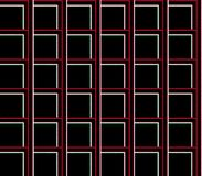 Abstract seamless background of black, white and red lines and squares and cubes Royalty Free Stock Photo