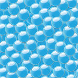 Abstract seamless background with blue bubbles Royalty Free Stock Images