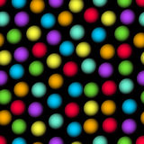 Abstract seamless background with blurry multicolored dots. Sharp contrasting patterns. Vector eps10 Stock Images