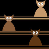 Abstract  seamless background with cats. Stock Photography