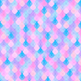 Abstract seamless background with colorful geometric pattern. Abstract seamless pattern of pink, blue and purple elements in the form of squares with rounded Royalty Free Illustration