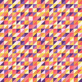 Abstract seamless background with colorful triangles. Vector illustration. Royalty Free Stock Photography