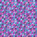 Abstract seamless background with colorful triangles. Vector illustration. Stock Image