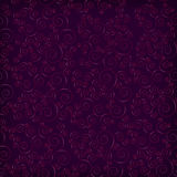 Abstract seamless background with curls. Over purple background Royalty Free Stock Photos