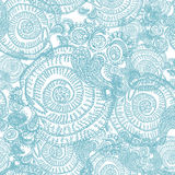 Abstract seamless background with curls. And Paisley Stock Illustration