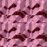 Abstract seamless background of 3d red and pink blocks Royalty Free Stock Photo