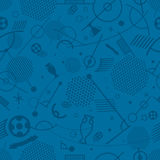 Abstract seamless background of different soccer symbols. Football championship abstract seamless background vector illustration royalty free illustration