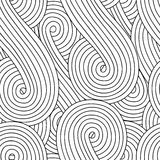 Abstract seamless background with doodle style, zen tangle for you design. Or adult coloring book Stock Image