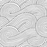 Abstract seamless background with doodle style, zen tangle for you design. Or adult coloring book Stock Photo
