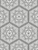 Seamless geometric line pattern in arabian style, ethnic ornament. Royalty Free Stock Images