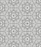 Seamless geometric line pattern in arabian style, ethnic ornament. Stock Photos