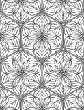 Seamless geometric line pattern in arabian style, ethnic ornament. Royalty Free Stock Photo