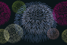 Abstract seamless background with a fireworks. Illustration Stock Image