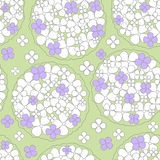 Abstract seamless background floral pattern Royalty Free Stock Image