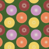 Abstract seamless background flower pattern. Cute childish seamless background abstract pattern with repeating stylized dahlia flowers graphic ornament on the Royalty Free Stock Photo