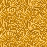 Abstract seamless background. Golden curves with shadows. vector illustration