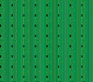 Abstract seamless background of green and black lines and squares and cubes. Are laid in rows to form a continuous pattern stock illustration