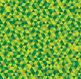 Abstract seamless background of green triangles. Vector illustration Royalty Free Stock Photos