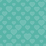 Abstract seamless background with hearts Royalty Free Stock Photos