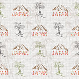 Abstract seamless background with Japan symbols Royalty Free Stock Images