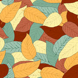 Abstract seamless background with leaves Royalty Free Stock Image