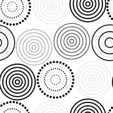 Abstract seamless background made of rings. Vector illustration stock illustration