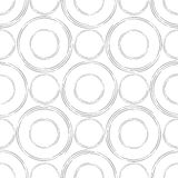 Abstract seamless background made of set of rings. Illustration stock illustration