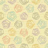 Abstract seamless background with multicolored objects Royalty Free Stock Photos