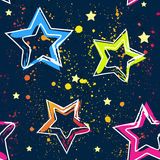 Abstract seamless background pattern with bright star for girl and boy textiles or wallpaper Royalty Free Stock Photos