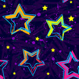 Abstract seamless background pattern with bright star for girl and boy textiles or wallpaper Stock Photography