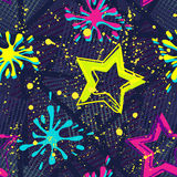 Abstract seamless background pattern with bright star for girl and boy textiles or wallpaper Stock Images