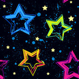 Abstract seamless background pattern with bright star for girl and boy textiles or wallpaper Stock Image