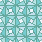 Abstract seamless background pattern illustration. Abstract seamless background mosaic pattern with blue triangle and square pieces in the turquoise stock illustration