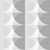Abstract seamless background with a pattern of lines and circles. Vector pattern from geometric shapes. Stock Photos