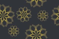 Abstract, seamless background pattern made with geometric shapes forming flower abstraction royalty free stock photo