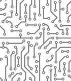 Abstract seamless background in PCB-layout style Royalty Free Stock Photos