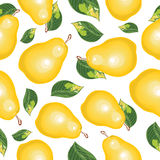 Abstract  seamless background of pears. Royalty Free Stock Images