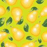 Abstract  seamless background of pears. Stock Photo
