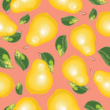 Abstract  seamless background of pears. Stock Photography