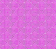 Abstract seamless background of pink and white lines and squares. Abstract seamless strips and small squares of pink and white lined in rows to form a continuous Stock Image