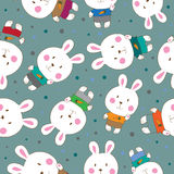 Abstract  seamless background with rabbits. Royalty Free Stock Photo