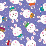 Abstract  seamless background with rabbits. Stock Photo