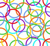 Abstract seamless background with rainbow circles Royalty Free Stock Image