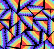 Abstract seamless background with rainbow fans. In the dark area Stock Photo