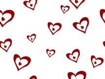 Heart seamless pattern Royalty Free Stock Image
