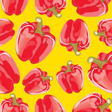 Abstract  seamless background of red peppers. Stock Photos
