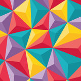Abstract Seamless Background with Relief Triangles - Geometric vector pattern Royalty Free Stock Photo