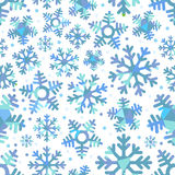 Abstract seamless background of snowfakes Stock Images