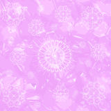 Abstract seamless background. With snowflakes on pink Royalty Free Stock Photo