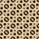 Abstract seamless background or texture based on leopard fur. Royalty Free Stock Photo